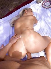 Big tits get cock at picnic