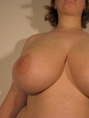 Unknow german girl with natural large breasts 32EE