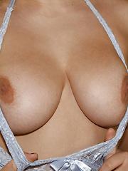 Shelley Fox huge step brother gives big natural boobs stepsister facial