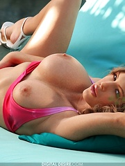 Jenna Presley - barely fits in her little pink bikini