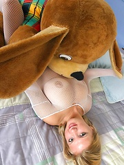 Malina with bear