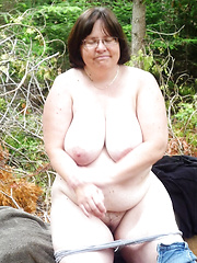 Fat mature moms and grannies with half no dress